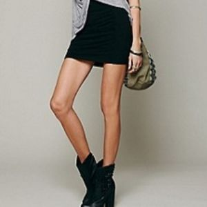 NWT Free People ruched mini skirt